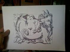 ink drawing/desenho a tinta