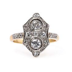 Burnt Oak is a super unusual vintage Edwardian diamond ring from Trumpet & Horn // $3,950