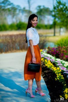 Midi skirt & crop top