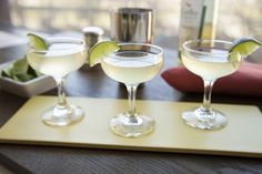 3 oz. Gallo Family Vineyards Moscato1 oz.  Fresh Lime Juice1/2 oz. Agave Nectar Combine ingredients into a cocktail shaker. Shake and strain into a coupe glass. Garnish with a lime.