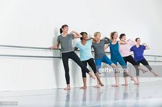 Women doing barre exercises Boot Camp Workout, Barre Workout, Pole Dance Moves, Pole Dancing, Running Training, Running Tips, Stock Pictures, Stock Photos, Ballet Studio
