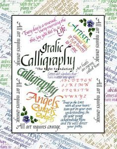 ITALIC CALLIGRAPHY ~ THE RIGHT FOUNDATION & CALLIGRA-FUN (Both Classes) by Martha Lever $90