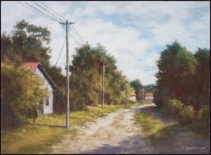 Old Dirt Road by Olli Malmivaara Soft pastel on sanded paper 30 x 40 cm