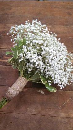 Babies breath wedding bouquet @Danielle Lampert Andrews-Thomas an idea for Bridesmaids.