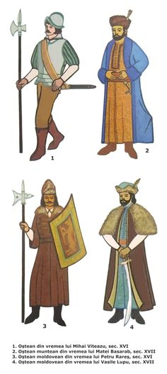 Wallachian and Moldavian soldiers, century Medieval Art, 17th Century, Warfare, Romania, Renaissance, Army, Armours, Moldova, Men