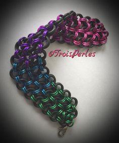 01  Chain Maille Armband  Chainmaille Bracelet von TroisPerles