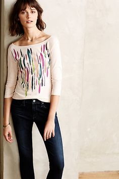 **FAVORITE TOP** Painterly Tee #anthropologie