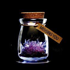 DIY Growing Grow Crystal Bottle Jar Powder LED Mood Light Lamp Wishing Wish Purple -- For more information, visit image link. Grow Your Own Crystals, Growing Crystals, Diy Crystals, Natural Crystals, Mood Light, Lamp Light, Crystal Garden, Crystal Flower, Diy For Girls