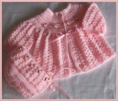 Mary Helen artesanatos croche e trico: casaquinho Bebe croche