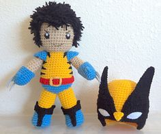 Crochet Amigurumi Design Looking for your next project? You're going to love Wolverine Inspired Amigurumi Pattern by designer pawfectgifts. Crochet Crafts, Crochet Dolls, Yarn Crafts, Crochet Projects, Amigurumi Patterns, Amigurumi Doll, Crochet Patterns, Crochet Ideas, Avengers