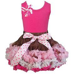 Kirei Sui Girl Brown Pink Cream Pettiskirt Hot Pink Tank Top -  #deal gap #discount coach
