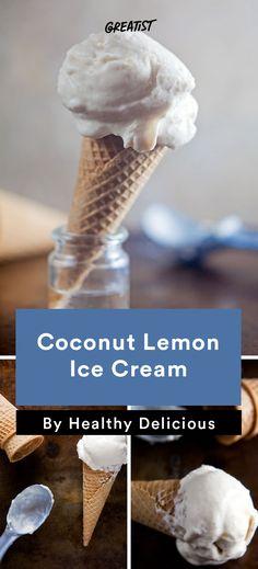 2. Coconut Lemon Ice Cream #icecream #recipes http://greatist.com/eat/ice-cream-recipes-that-dont-require-fancy-equipment