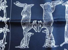 Detail of beautiful Hermès Finesse Alphabet 3 scarf designed by Annie Faivre <3 :-)