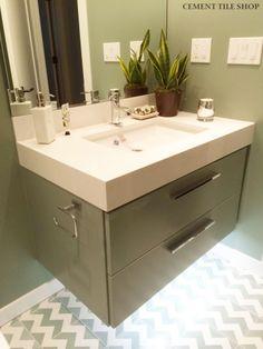 Cement Tile Shop - Handmade Cement Tile | Chevron Pattern. Photo: Nicole Chouinard Color & Design - Santa Rosa, CA