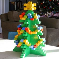 Are you a huge Lego fan? Take inspiration from these fun designs and build your own Lego Christmas decorations this year. Lego Christmas Ornaments, Noel Christmas, Christmas Decorations, Xmas, Legos, Holiday Crafts, Holiday Fun, Lego Challenge, Lego Activities