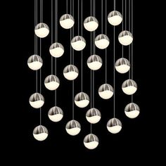 Grapes 24 Light LED Round Multipoint Pendant