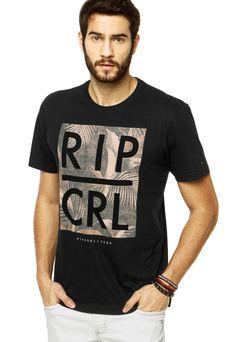 da5eb50e4f Camiseta Rip Curl Paradise Type Art Preta