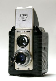 The argus 40 is a twin lens reflex style 620 film camera made from 1950 to 1954. Focus is achieved by estimating your distance from subject and turning the ring at the very front of the lens to set the distance. F-stops and shutter speeds are set on the back ring of the lens mount. It's an excellent camera for TtV (through the viewfinder) photography
