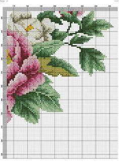 Zz Cross Stitch Rose, Cross Stitch Flowers, Cross Stitch Charts, Cross Stitch Embroidery, Cross Stitch Patterns, Needlepoint Patterns, Knitting Patterns, Flower Patterns, Blackwork