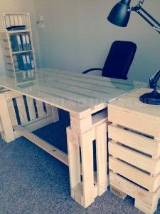 1000 ideas about bureau pour ordinateur on pinterest information technolog - Construire un bureau en bois ...