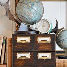 Ikea hack! Make this DIY vintage file drawer made for under $25! #craftgawker