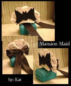 ^_^ i made myself a mini Mansion Maid hat, just like the real Mansion Maids @ the Haunted Mansion. Halloween Crafts For Kids, Disney Halloween, Halloween Projects, Spooky Halloween, Halloween Themes, Halloween Decorations, Halloween Party, Halloween Costumes, Run Disney