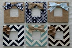 Embellished picture frames - easy DIY