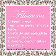 Significado do nome Filomena | Significado dos Nomes
