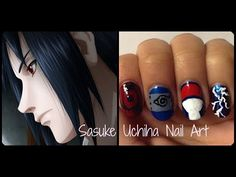 Naruto: Sasuke Uchiha Nails this is for @Kat Uchiha n @Makkura Murasaki Sabaku san :3
