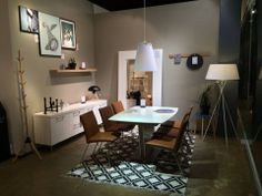 BoConcept Milano expanding dining table with Mariposa Deluxe chairs