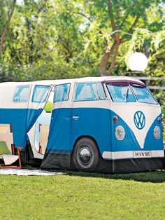 Volkswagen Van Camper Tent looks just like a VW bus! Other colors available.
