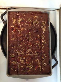 Cracker Cookies (Vegan) - WF's 365 Saltines, Earth Balance butter caramel, TJs semi-sweet chocolate chips & Omega cranberry nut mix topping