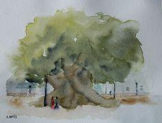 Ficus del Parterre (Valencia).  Acuarela.  Amparo Ramis
