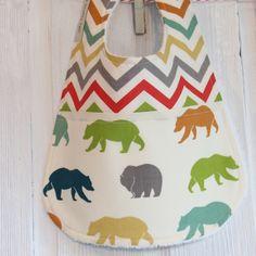 Baby Bib Organic Bears £7.50