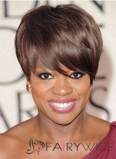 Attractive Short Straight Brown African American Wigs for Women Medium Short Hair, Short Hair Cuts, Short Hair Styles, Short Human Hair Wigs, Remy Human Hair, Popular Hairstyles, Black Women Hairstyles, American Hairstyles, My Hairstyle