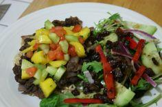 Caribbean Black Beans with Mango Salsa
