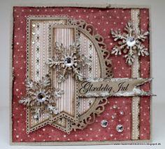 Så får I endnu en omgang julekort med det fantastiske papir fra Riddersholm. Jeg har brugt dies fra Cherry Lynn, Sizzix, Nellie Snellen og ...