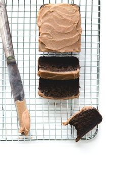 "AIP/Paleo ""Chocolate"" Carob Bread that tastes fudgey and delicious, with a vegan date caramel frosting. Made with Otto's cassava flour & gelatin egg."