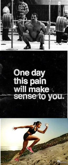One day this pain will make sense to you Running Motivation, Fitness Motivation, You Fitness, Health Fitness, Health Lessons, I Work Out, Powerlifting, Make Sense, Fitness Inspiration