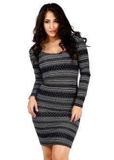 Trendy Dresses-Fashion Scuba Dresses- Long sleeve sexy dress #dresses #style #fashion #modaxpress