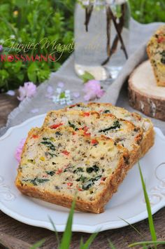 Pizza, Salmon Burgers, Finger Foods, Healthy Dishes, Bread Recipes, Food And Drink, Banana Bread, Catering, Appetizers