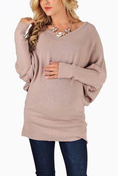 Dusty-Pink-Knit-Dolman-Sleeve-Maternity-Sweater