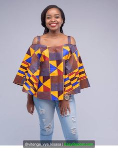 If you are a fashionista and you are looking for ways to rock your Ankara fabrics, these beautiful Ankara styles are still for you. Short African Dresses, African Blouses, African Print Dresses, African Inspired Clothing, African Print Clothing, African Fashion Ankara, Latest African Fashion Dresses, Style Africain, Africa Fashion