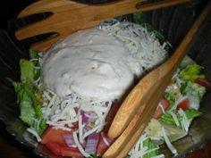 Cheesy Italian House Salad With Parmesan Dressing