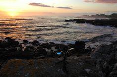 Filming the sunset in Saligo Bay, Isle of Islay