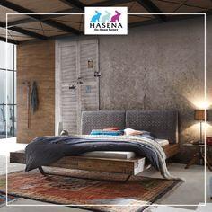 HASENA Factory-Line mit Rahmen Bloc 16 mit Kopfteil Opera und Kufen Slid in Anthrazit Slider, Furniture, Ideas, Design, Home Decor, Home, Industrial Style, Frame, Design Interiors