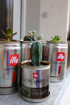 Origineel idee van Illy. Die koffiepotten zijn niet alleen goed voor de koffie!