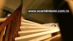 atelier tamplarie scara interioara din lemn cu trepte de lemn suspendate pe corzi pret