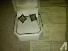 NEW REAL KANARY/REG DIAMOND EARINGS - $170 (SOUTH PLAINFIELD)