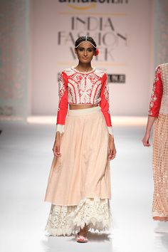 By designer Niki Mahajan. Shop for your wedding trousseau, with a personal shopper & stylist in India - Bridelan, visit our website www.bridelan.com  #Bridelan #bridelanindia #NikiMahajan #amazonindiafashionweek #amazonfashionweek2016 #autumnwinter